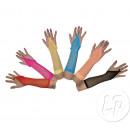 Großhandel Handschuhe: Paar Handschuhe lange Netz neon pink