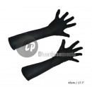 pair of gloves long black 45cm