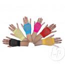Großhandel Handschuhe: Paar von kurzen rosa Faden Fäustlinge