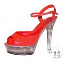 Großhandel Schuhe: Paar Schuhe für Frauen mit rotem Stilettpunkt
