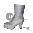 Großhandel Schuhe: Paar Pailletten Silber Stiefel Größe 40-41