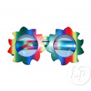 multicolored flower gag glasses