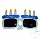 gag birthday blue cake glasses