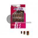 wholesale Nail Varnish: lot 24 fake multicolored nails