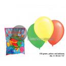 Veel 100 30cm ballonnen rood geel groen