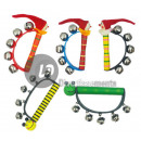 wholesale Music Instruments: 5 tambourine bells  clown face and 15cm mix