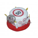 hat birthday cake foam 50