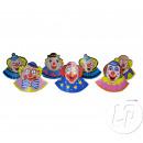 set van 6 kartonnen clown hoeden voor kinderen