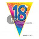 Großhandel Partyartikel: Girlande 10 flags 18 5m