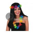 grossiste Bijoux & Montres: perruque hawai  avec couronne et collier de fleurs