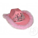 pink cowboy hat feathers