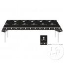 wholesale Table Linen: Pirate black plastic tablecloth 270x136cm