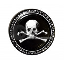 pirates black pack of 8 paper plates
