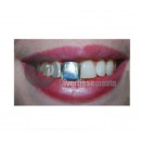 false tooth to pinch black gold silver mix