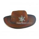cappello da cowboy feltro con stella marrone per E