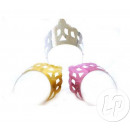 Großhandel Beads & Charms: Karton Tiara  Metallic Farbmischung