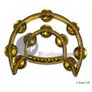 Großhandel Musikinstrumente: Kunststofftrommel 10 cymballettes 19cm gold
