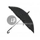 nagyker Táskák és utazási kellékek:fekete pöttyös esernyő