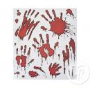 Sticker window halloween bloody hands