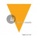 guirnalda 10 banderas naranja llanura 5m