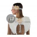 grossiste En perle et Charme: set accessoires d'ange blanc vintage 2pcs