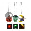 ingrosso Articoli da Regalo & Cartoleria: ciondolo luminoso a sospensione LED halloween MIX