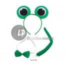 grossiste Vetements enfant et bebe: set accessoires de grenouille vert 3pcs