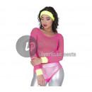 Großhandel Schmuck & Uhren: Gelber Neonschwamm Stirnband und Armbänder Set 3tl