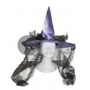 purple witch hat and black tulle