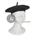thick black felt beret