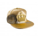 gold crown rapper cap