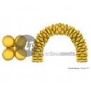 dużo 10 złotych balonów 43cm do łuku