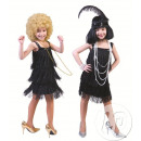 charleston Kleid  mit schwarzen Fransen Kind t152cm
