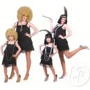 Großhandel Kleider: Hi-Hat-Kleid mit Fransen schwarz Größe s / m