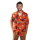tahiti hawaii shirt & red flowers size 48/50