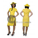 wholesale Costume Fashion: disguise of Chinese yellow size s / m