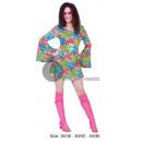 Großhandel Kleider: grünes Hippie-Kleid Größe l