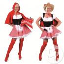 przebranie żeński czerwony chaperon rozmiar xl