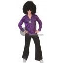 wholesale Shirts & Blouses:purple shirt size m / l