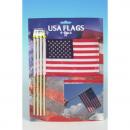 usa vlag 21x10cm stick met veel 4 stuks