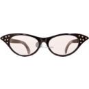 sekretärin xxl brille mit schwarzen strasssteinen