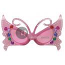 nagyker Napszemüveg: rózsaszín pillangó gag szemüveg