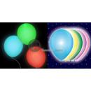 Set van 5 veelkleurige ballonnen met LED-licht