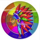 Großhandel Geschirr: Indianer Set aus 8 Papptellern