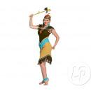 grossiste Jouets de plein air: robe d'indienne adulte beige & bleu taille m