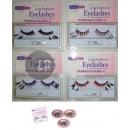 wholesale Small Parts & Accessories: false eyelashes model 43 purple
