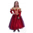 kostuum kind prinses rood / goud maat 10