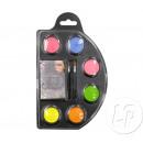 groothandel Kindermeubilair: make-up palet met water 6 neonkleuren