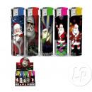 Großhandel Feuerzeuge: 50x Feuerzeug Weihnachtsmann Rock'n Roll
