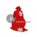 Sankt-Beutel rotes Muster 90x60cm Flocken